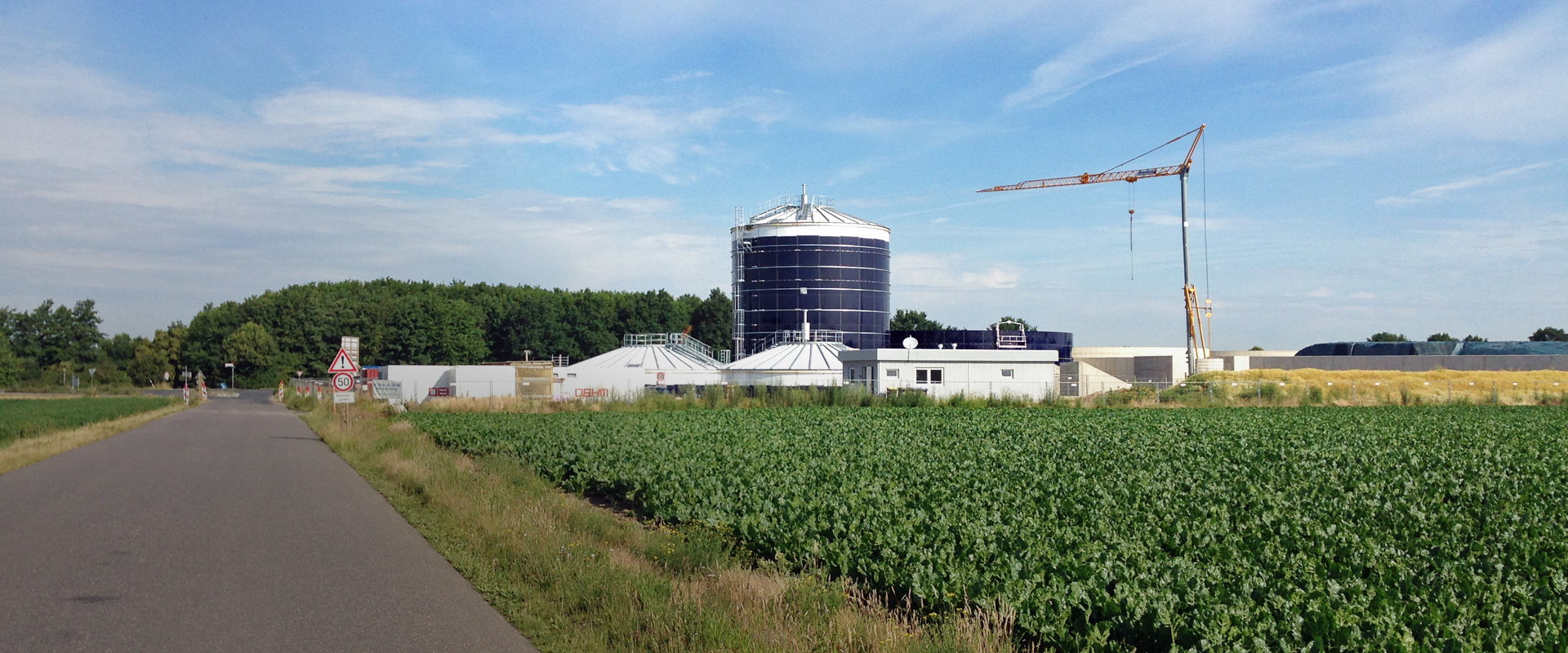 Biogas production in Bergheim